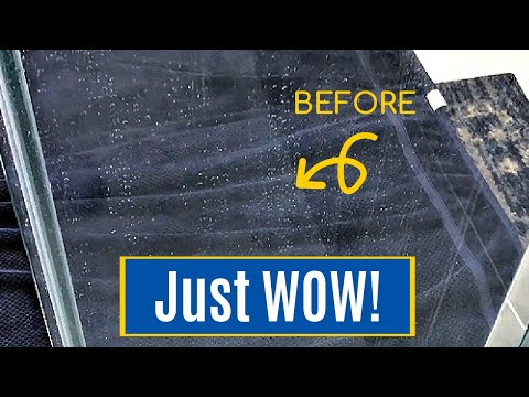 Best Way to Clean Glass Shower Doors in a Marble or Stone Shower - How to Remove Hard Water Stains