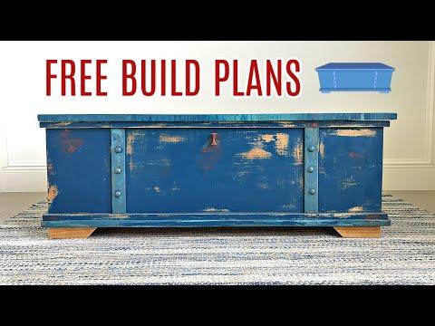 DIY Toy Box Build Plans - DIY Storage Chest Coffee Table - Free Printable Plans
