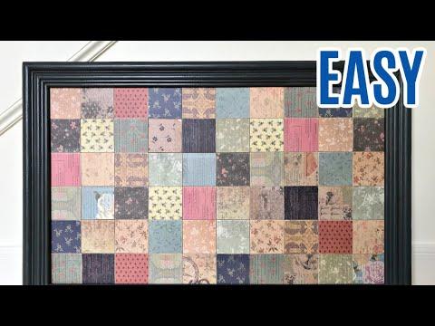 Easy DIY Scrapbook Paper Wall Decor - Decoupage Art with Mod Podge