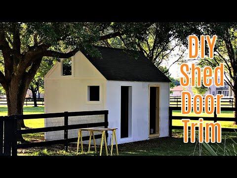 1x4 DIY Exterior Trim around Shed Door, Outdoor Playhouse Door, Treehouse Door, etc