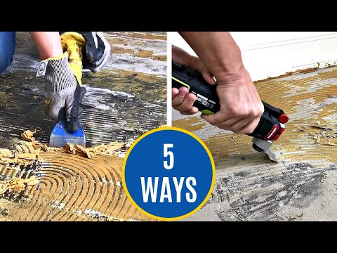 How to Remove Adhesive on Concrete Floor - 5 DIY Ways to Scrape Off Glue on Concrete
