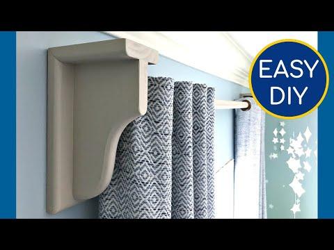Easy DIY Curtain Rod Brackets - How to Make Wood Curtain Rod Holders