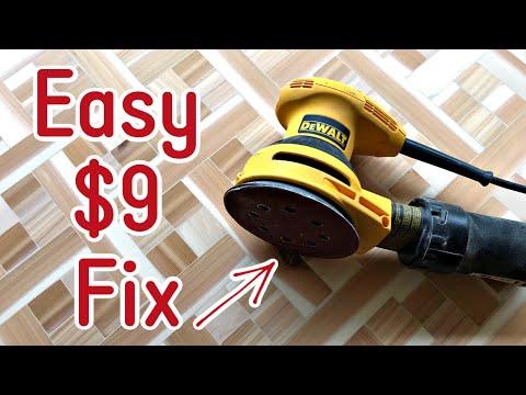Dewalt Sander Pad Replacement - Easy 5 inch 8 Hole Orbital Sanding Pad Repair