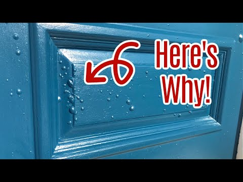 New Front Door Paint Bubbling and Blistering - Why Your Exterior or Entry Door Paint is Blistering
