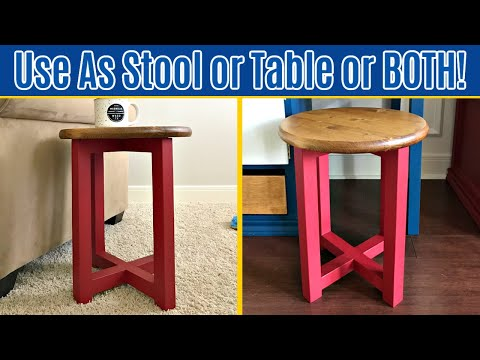 How to Build an Easy DIY Round Wood Stool or Table, for $20 in 1 Hour!