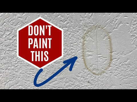 How to Fix Water Stains on Ceiling or Wall - Without Painting It! Using Bleach on Water Stains