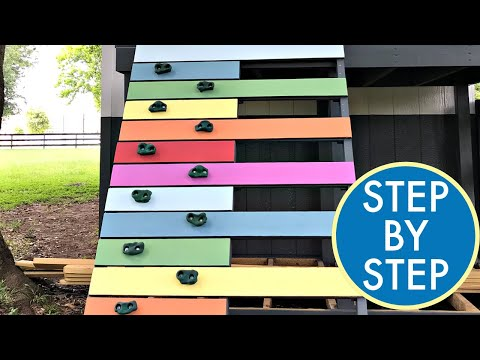 How to Make a Kids Climbing Wall for a Playhouse, Fort, or Playset