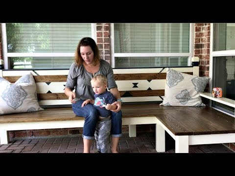 DIY Outdoor Corner Bench - L Shaped Bench Build Overview