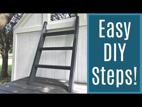 How to Build a Small Step Ladder for a Playhouse, Loft, or Tiny House