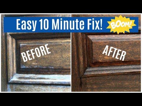 Restore a Wood Front Door - Quick DIY Fix for Sun Damaged, Dry Wood Front Door