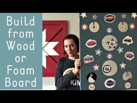 How to Make A Nerf Gun Target - Using Wood or Foam Board