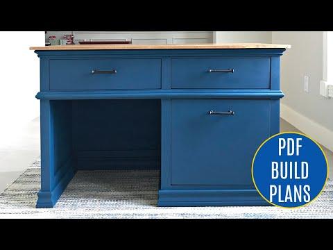 DIY Kids Desk Plans with Storage Drawers - Build a School Desk