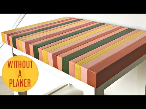 Cheap & Easy DIY Wood Table Top From 2x4 Blocks
