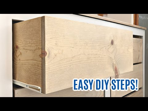 How to Make Easy Drawer Boxes for Storage - DIY Wood Storage Bin