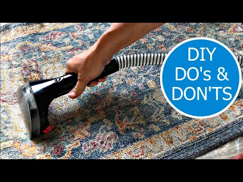 How to Clean Area Rugs at Home using a Bissell 3624 SpotClean Professional Portable Cleaner