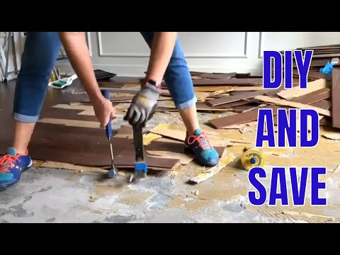 How to Remove Glued Wood Flooring and Engineered Wood Flooring on Concrete