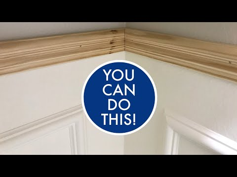 How to Install Picture Frame & Chair Rail Molding