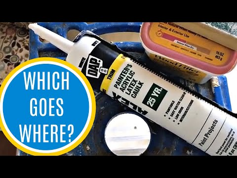 Where to Use Caulk, Wood Filler, or Spackling on Wood Trim, Baseboards, and Molding