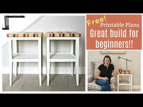 Side Table Build Plans - Free Printable Plans