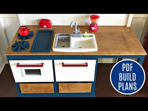 DIY Play Kitchen for Kids - Woodworking Build Plan