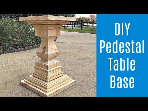 DIY Round Dining Table Build - Easy Wooden Pedestal Table Base
