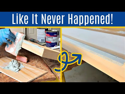 How to Fix Damaged Wood Furniture or Woodworking Projects with Bondo All Purpose Putty