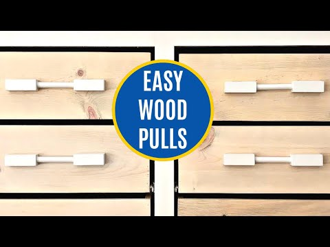 How to Make Chunky Drawer Pulls or Cabinet Hardware Using Dowel Rods and 2x2