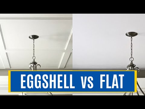 Which Paint Sheen to Use on Ceilings? Eggshell vs Flat Paint Sheen