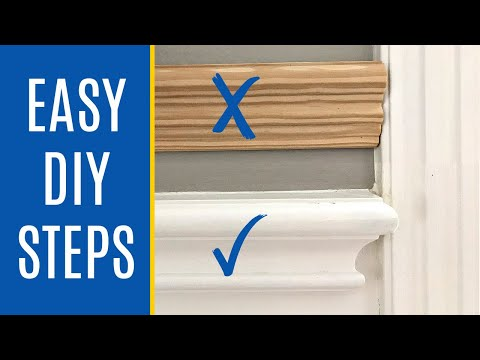 How to Cut End Cap for Chair Rail Molding - How to End Chair Rail at Door Frame, Windows, on a Wall