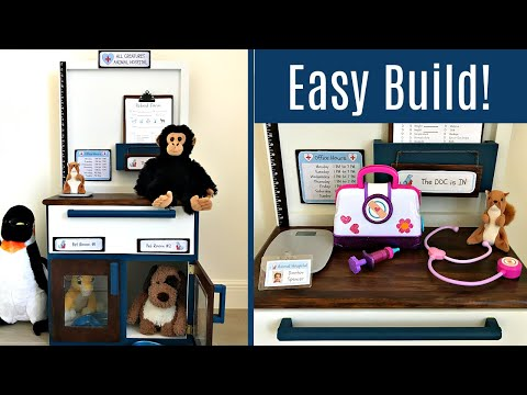 Woodworking Plans - DIY Pretend Play Pet Vet Office or Animal Hospital for Kids