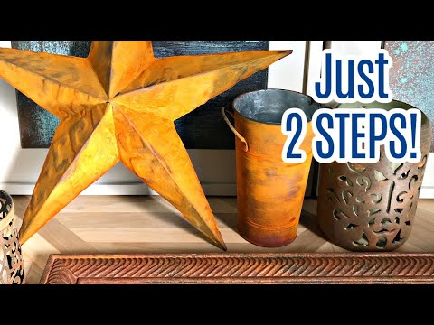 How to Paint a Rust Look - Modern Masters Rust Finish Paint - Iron Patina Paint