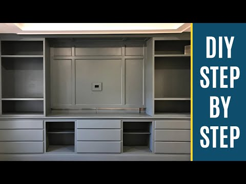 How to Paint Built In Bookshelves and Cabinets - Step by Step DIY