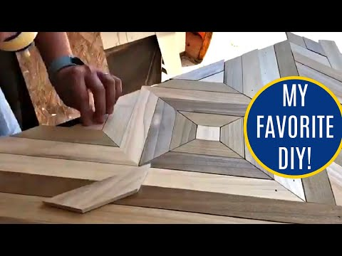 Glue Up on the Geometric Wood Art Table Top