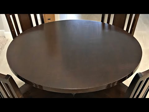 Easy DIY Round Table Top - from Plywood Circles Cut with a Router