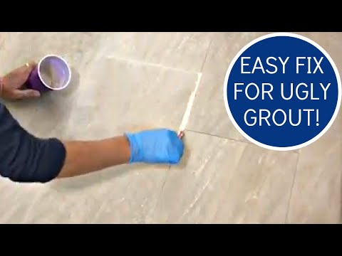 How to Whiten Grout - Using Grout Renew to Paint Grout Lines