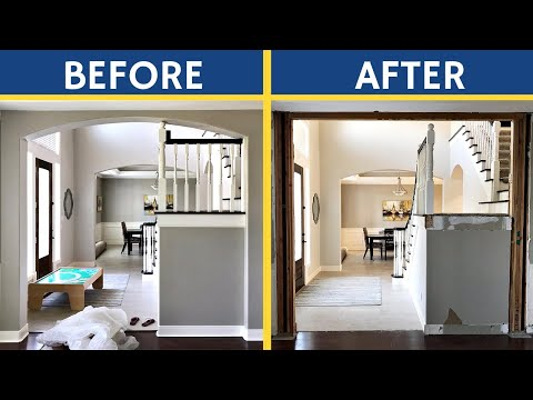 How to Remove an Arch in Your Home - Demo an Archway