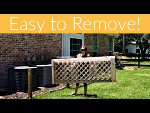 Removable DIY Lattice Screen Panel - DIY Lattice Fence - AKA my most trolled project. ;)