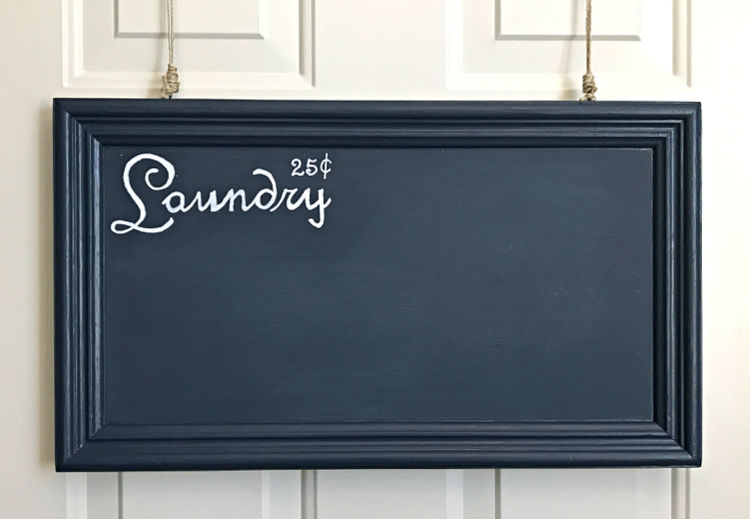 Easy DIY Ideas for a Sign from Old Cabinet Doors. Make a chalkboard sign from an old cabinet door to use as a to do list, for family notes, as a grocery list, or for quick notes.