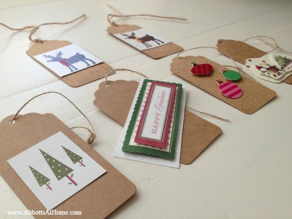 Kids craft - homemade ornaments from Christmas cards