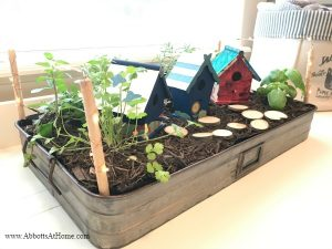 DIY Indoor LED Lighted Herb Garden Tray
