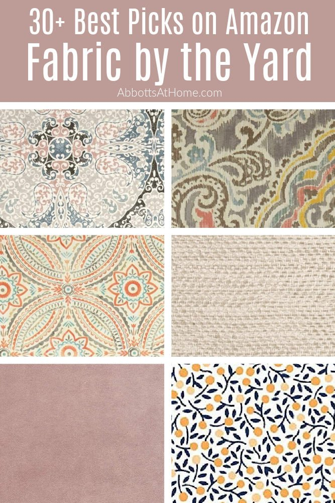 Did you know that you can find some of the best fabric by the yard online on Amazon? Here are 30+ of my top picks for beautiful, cheap fabric from all of the popular fabric brands. Beautiful upholstery, quilting, clothing, and home fabrics by the yard on Amazon.