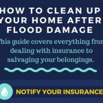 After going through Hurricane Harvey, I created this big list of steps for How to clean up your home after flooding. Whether it's from heavy rains, storms and hurricanes or other ways. These tips for salvaging your wet items and tearing out wet flooring and drywall will help.