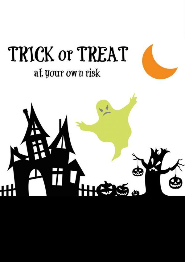 Grab 2 Free Halloween Printables. Just print on 8x10 paper or cardstock for your office, home, or classroom. #Halloween #Printable #free