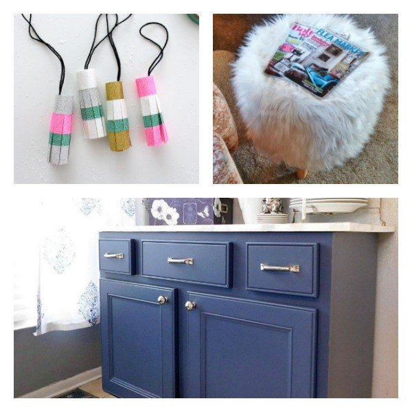 Share your latest DIY's, Crafts, & Remodels. This week: Washi Tape Tassels, Painting Kitchen Cabinets, and Pottery Barn DIY Stool