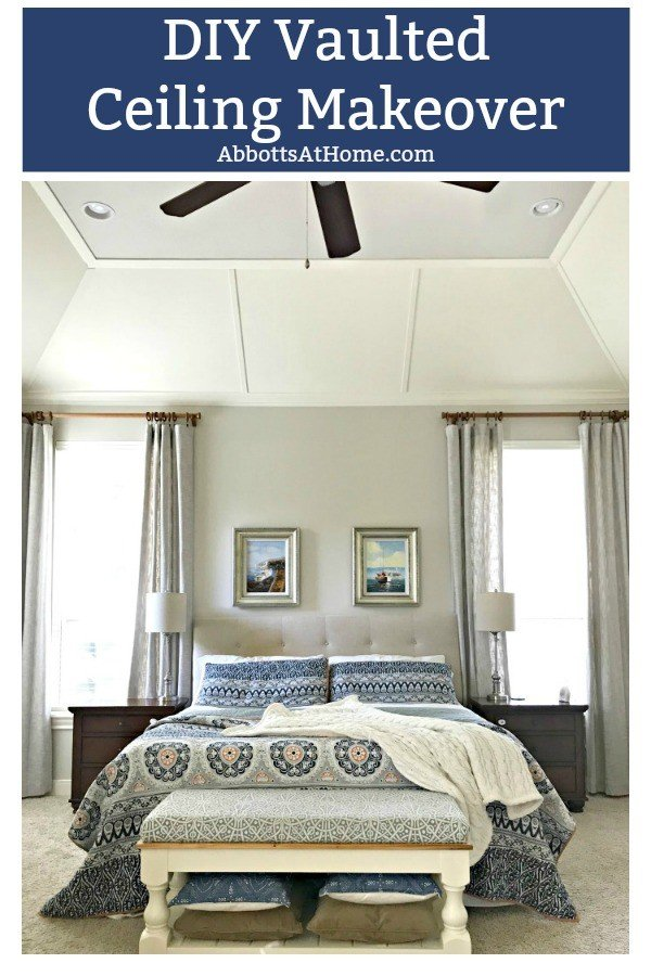 Turn that vaulted ceiling into the feature it should be! This DIY Vaulted Ceiling Makeover gave our Master Bedroom instant style.