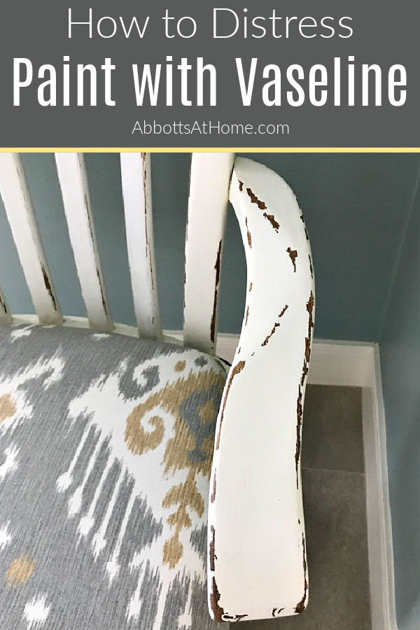 Easy steps for how to paint and distress furniture with Vaseline. With 5 beautiful examples of paint distressed with Vaseline on furniture. Layer chalk paint and stain for a beautiful distressed paint look.