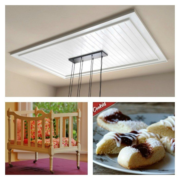 This weeks features include a DIY Planked Ceiling feature, DIY Kids Doll Bed, and Raspberry Stripper Cookies