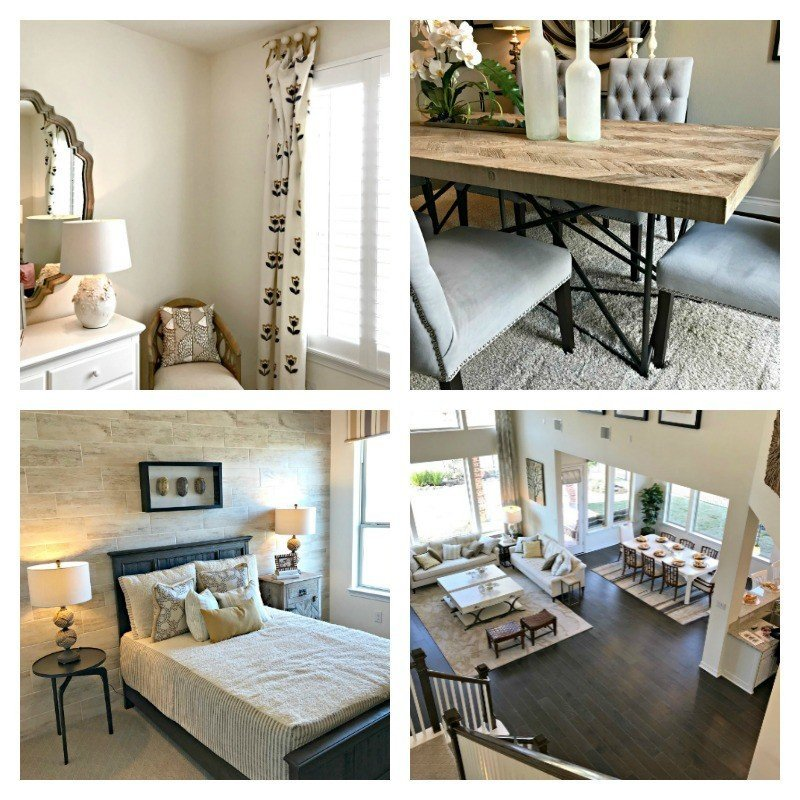 4 beautifully designed Model Home rooms. Interior and Furniture Design Inspiration Pictures from Model Homes and Local Stores.