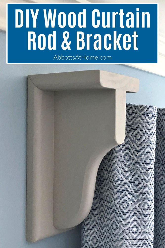 Easy DIY Wooden Curtain Rods and Brackets. How to make pretty, chunky curtain rods and brackets that you can paint or stain to match any room or home decor.