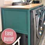 Hide those ugly machines with this DIY Table Over Washer and Dryer or DIY Folding Table. Full tutorial and free printable build plans.